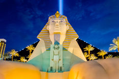 卢克索旅馆和赌博娱乐场的伟大的狮身人面象在n的拉斯维加斯 库存照片