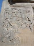 卢克索神庙—阿蒙镭中央寺庙的废墟  免版税图库摄影