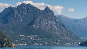 卢加诺湖,瑞士欧洲- 9月21日:湖Lu看法  库存照片
