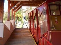 卢加诺,缆索铁路为攀登对Monte bre 免版税图库摄影