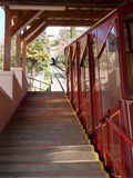 卢加诺,缆索铁路为攀登对Monte bre 库存图片