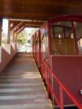 卢加诺,缆索铁路为攀登对Monte bre 库存照片