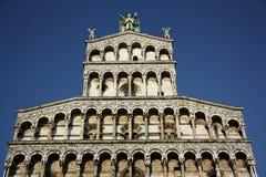 卢卡圣米谢勒在Foro教会(托斯卡纳,意大利)里 免版税库存图片