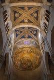 卢卡大教堂内部看法的天花板  Cattedrale di圣马蒂诺 托斯卡纳 意大利 免版税库存照片