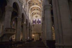 卢卡大教堂内部看法  Cattedrale di圣马蒂诺 托斯卡纳 意大利 库存图片