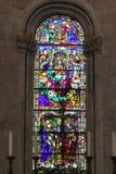 卢卡大教堂污迹玻璃窗  Cattedrale di圣马蒂诺马赛克窗口  托斯卡纳 意大利 库存图片