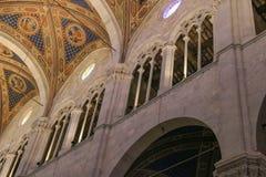 卢卡大教堂细节内部视图  Cattedrale di圣马蒂诺 托斯卡纳 意大利 免版税库存图片