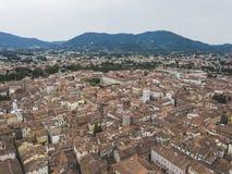 卢卡市 鸟瞰图 意大利 在视图之上 图库摄影