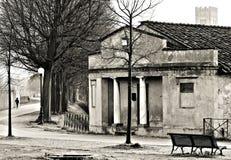 卢卡托斯卡纳意大利墙壁 库存照片