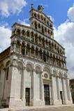 卢卡的圣米谢勒在Foro教会里,细节 免版税库存图片