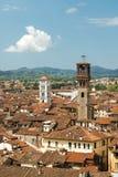 卢卡的市中心看法在意大利 免版税库存照片