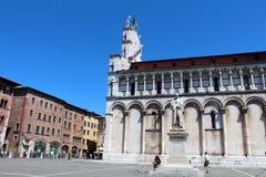 卢卡,意大利城市视图  免版税库存图片