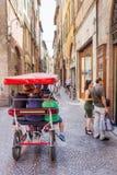卢卡,意大利街道视图  免版税库存照片