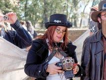 卢卡,意大利- 11月11 :在卢卡掩没漫画人物 库存照片