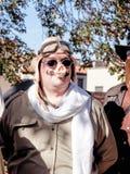 卢卡,意大利- 11月11 :在卢卡掩没漫画人物 图库摄影