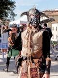 卢卡,意大利- 11月11 :在卢卡掩没漫画人物 库存图片