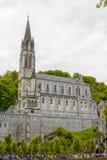 卢尔德大教堂的看法在法国 免版税图库摄影