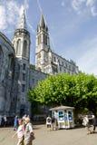 卢尔德大教堂  库存照片