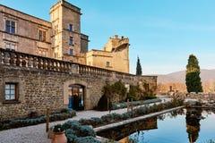 卢尔马兰中世纪城堡  法国 库存照片