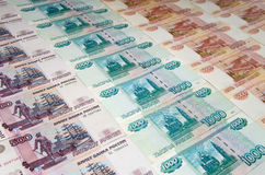 卢布俄语 免版税库存图片