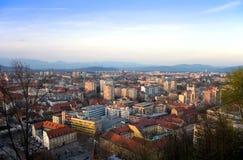 卢布尔雅那全景斯洛文尼亚 图库摄影