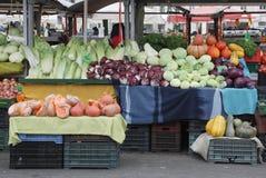 卢布尔雅那市场在12月 免版税库存图片
