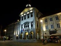卢布尔雅那市政厅 免版税库存照片