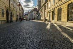 卢布尔雅那街道 库存图片