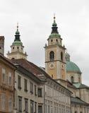 卢布尔雅那,斯洛文尼亚圣尼古拉大教堂  免版税图库摄影