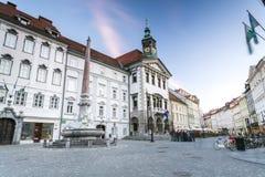 卢布尔雅那,斯洛文尼亚城镇厅  库存图片