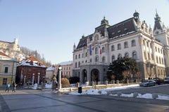 卢布尔雅那,斯洛文尼亚大学  图库摄影