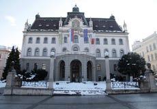 卢布尔雅那,斯洛文尼亚大学  库存图片