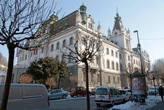 卢布尔雅那,斯洛文尼亚老镇和大学  免版税库存照片