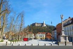卢布尔雅那,斯洛文尼亚,欧洲,卢布尔雅那的首都 库存照片
