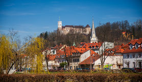 卢布尔雅那,都市风景,斯洛文尼亚 免版税图库摄影
