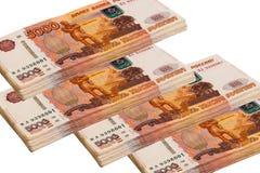 1000000卢布! 库存图片
