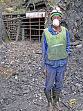 卢旺达贵重金属矿工 库存图片