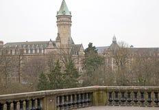 卢森堡建筑学 免版税库存图片