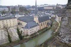 卢森堡建筑学 免版税库存照片