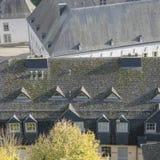 卢森堡市细节 顶视图在街市卢森堡 免版税库存照片