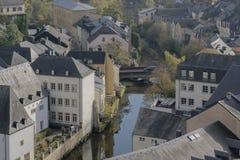 卢森堡市细节 顶视图在街市卢森堡 图库摄影