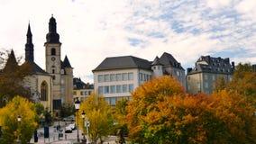 卢森堡市街道  影视素材