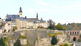 卢森堡市都市风景  影视素材