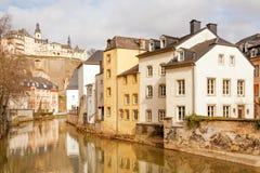卢森堡市都市风景 免版税库存照片