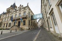 卢森堡市,卢森堡- 2016年7月01日:大公宫殿 免版税库存照片