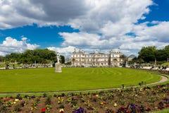 卢森堡庭院的美丽的景色 库存图片