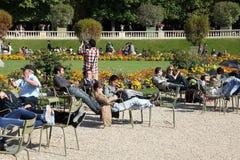 卢森堡庭院 库存照片