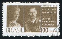 卢森堡的俄国沙皇时代的太子和公爵夫人 图库摄影