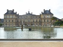 卢森堡的庭院 免版税库存图片