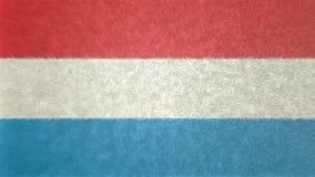 卢森堡的旗子的原始的纹理3D图象 库存例证